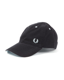 Fred Perry Mens Blue Classic Pique Cap