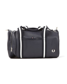 Fred Perry Mens Blue Scotchgrain Barrel Bag