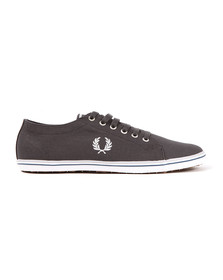 Fred Perry Mens Grey Kingston Twill Plimsole