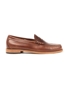 G H Bass & Co Mens Brown Weejuns Larson Pull Up Loafer