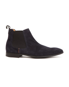 Paul Smith Mens Blue Falconer Suede Boot