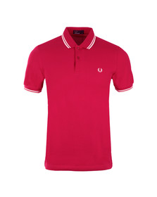 Fred Perry Mens Orange Twin Tipped Polo Shirt
