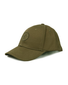 Stone Island Junior  Boys Green Tonal Compass Logo Cap
