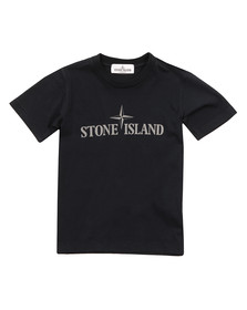 Stone Island Junior  Boys Blue Logo T Shirt