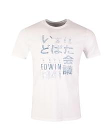 Edwin Mens White Gym T Shirt