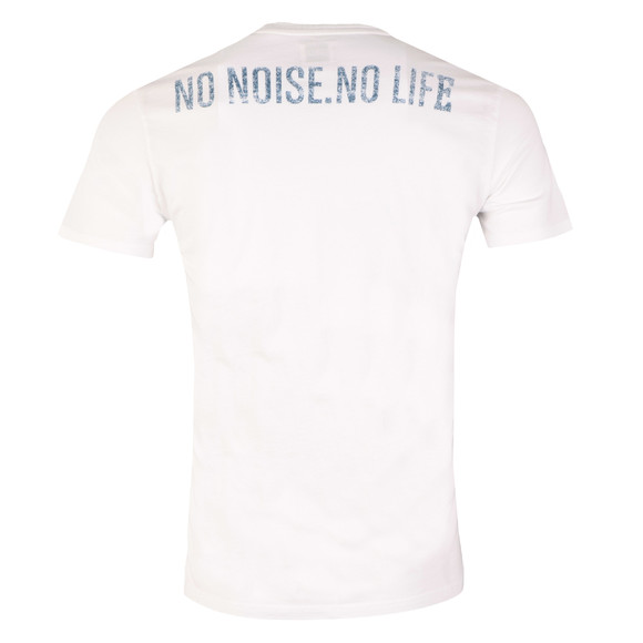 Edwin Mens White No Noise No Life T Shirt main image