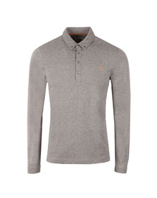 Farah Mens Grey Merriweather L/S Polo Shirt
