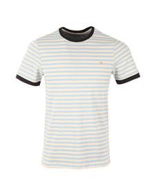 Farah Mens Blue S/S Ally Stripe Tee