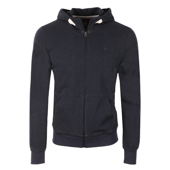 G-Star Mens Blue Core Full Zip Hooded Sweat main image