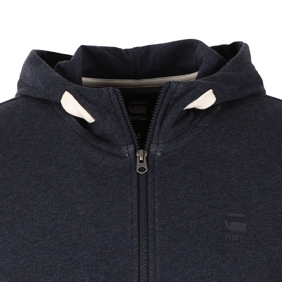 G-Star Mens Blue Core Full Zip Hooded Sweat main image