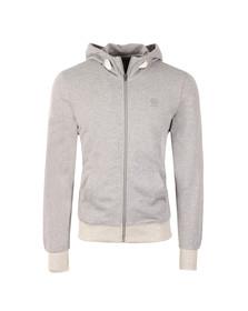 G-Star Mens Grey Core Full Zip Hooded Sweat