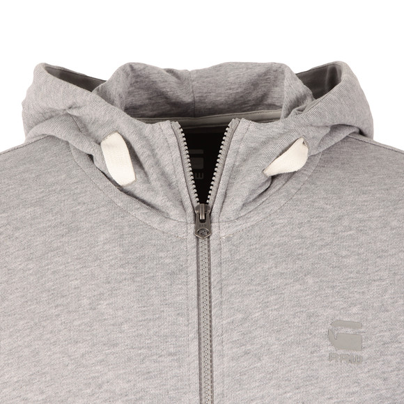G-Star Mens Grey Core Full Zip Hooded Sweat main image