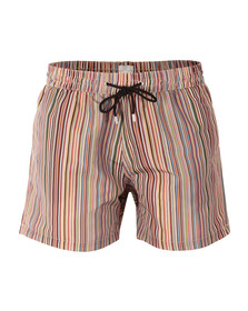 Paul Smith Swim Mens Multicoloured Classic Stripe Swim Short
