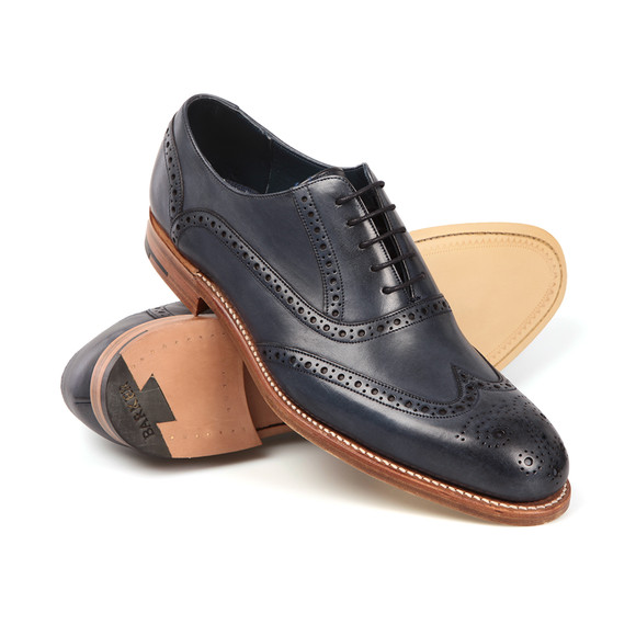 Barker Mens Blue Valiant Hand Painted Shoe main image