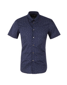 Paul Smith Mens Blue Short Sleeve Cactus Shirt