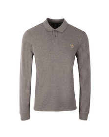 Paul Smith Mens Grey LS Zebra Polo Shirt