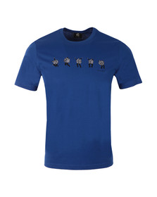 Paul Smith Mens Blue Dancing Men T Shirt