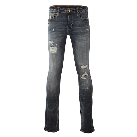 True Religion Mens Blue Rocco Destroyed Slim Jean main image