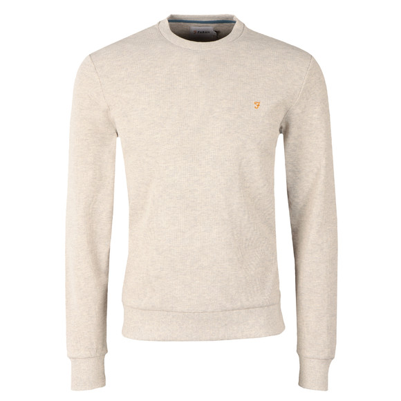 Farah Mens White Ashcroft Waffle Sweat main image