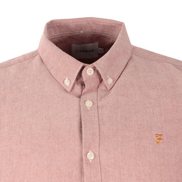 Farah Mens Purple Brewer Slim Short Sleeve Shirt main image