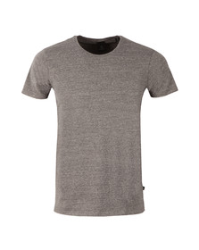 Scotch & Soda Mens Grey Cotton/Lycra Crew T Shirt