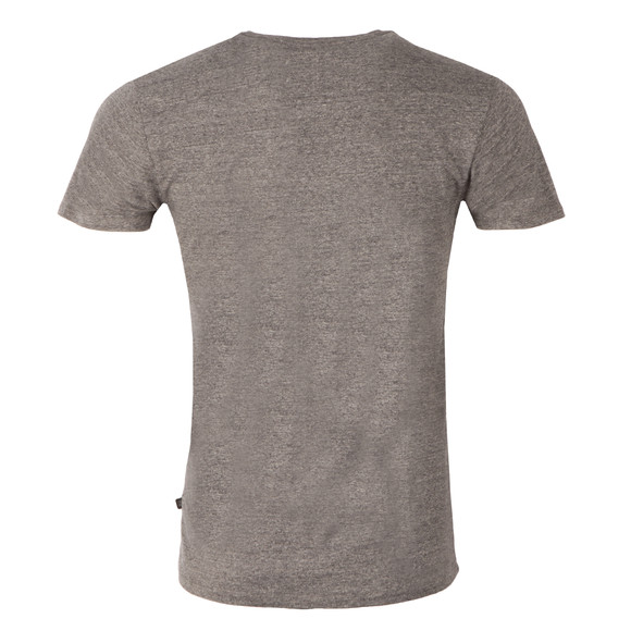 Scotch & Soda Mens Grey Cotton/Lycra Crew T Shirt main image