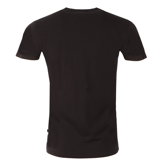 Scotch & Soda Mens Black Cotton/Lycra V Neck T-Shirt  main image