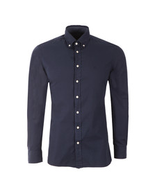 Hackett Mens Blue L/S Slim Fit Shirt