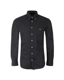 Gant Mens Blue Printed Broadcloth Shirt