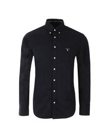 Gant Mens Blue Plain Broadcloth Shirt