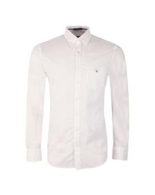 Gant Mens White Plain Broadcloth Shirt