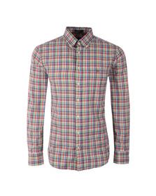 Gant Mens Pink L/S Madras Plaid Check Shirt