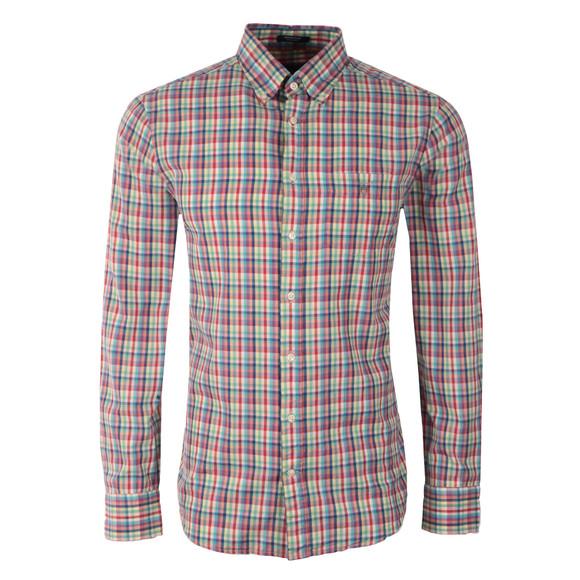 Gant Mens Pink L/S Madras Plaid Check Shirt main image