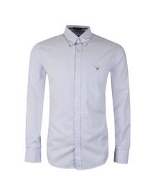 Gant Mens Blue Poplin Bankers Stripe Shirt