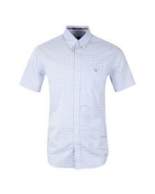 Gant Mens Blue S/S Gingham Check Shirt