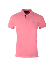 Gant Mens Pink Contrast Collar S/S Polo