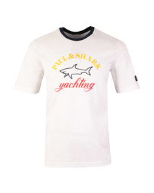 Paul & Shark Mens White Large Logo Ringer T Shirt