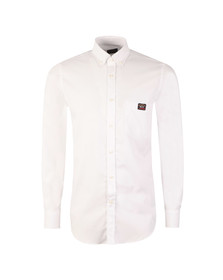 Paul & Shark Mens White Pocket Logo Shirt