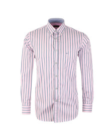 Paul & Shark Mens Pink Wide Stripe Shirt