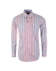 Paul & Shark Mens Blue Wide Stripe Shirt