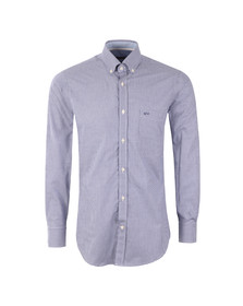 Paul & Shark Mens Blue Mini Gingham Shirt