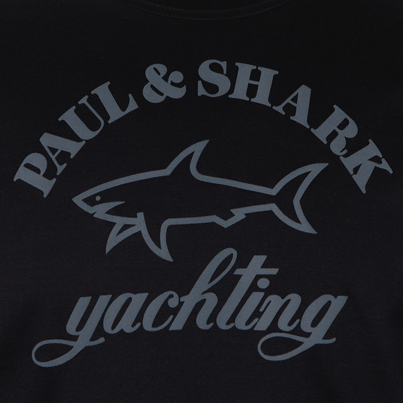 Paul & Shark Mens Blue Large Logo Crew Sweatshirt main image
