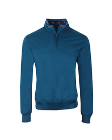 Paul & Shark Mens Blue Half Zip Pique Sweat