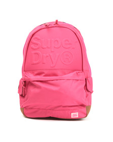 Superdry Womens Pink Lineman Embossed Montana Backpack