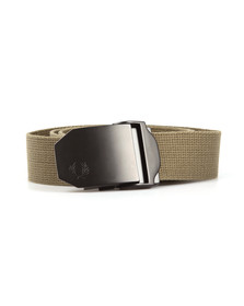 Fred Perry Mens Green Solid Webbing Belt