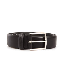 Gant Mens Black Classic Leather Belt