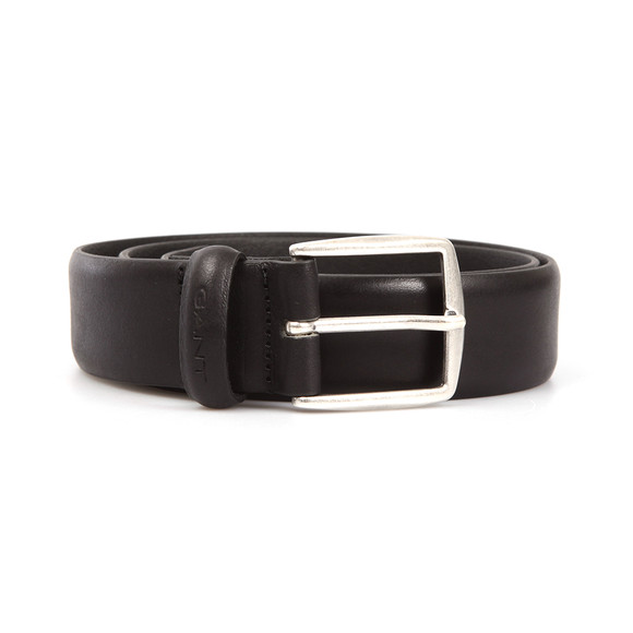 Gant Mens Black Classic Leather Belt main image