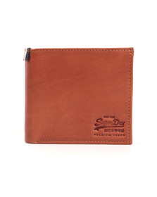 Superdry Mens Brown Tab Wallet In A Tin