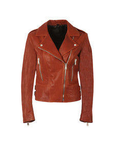 Belstaff Womens Red Marvingt Leather Blouson