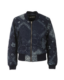 Maison Scotch Womens Blue Parka Bomber Jacket